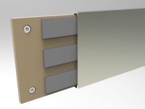 Панели стеновые с алюминиевым профилем
